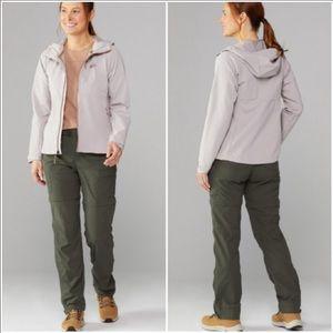 REI army green Sahara Convertible pants size 8p